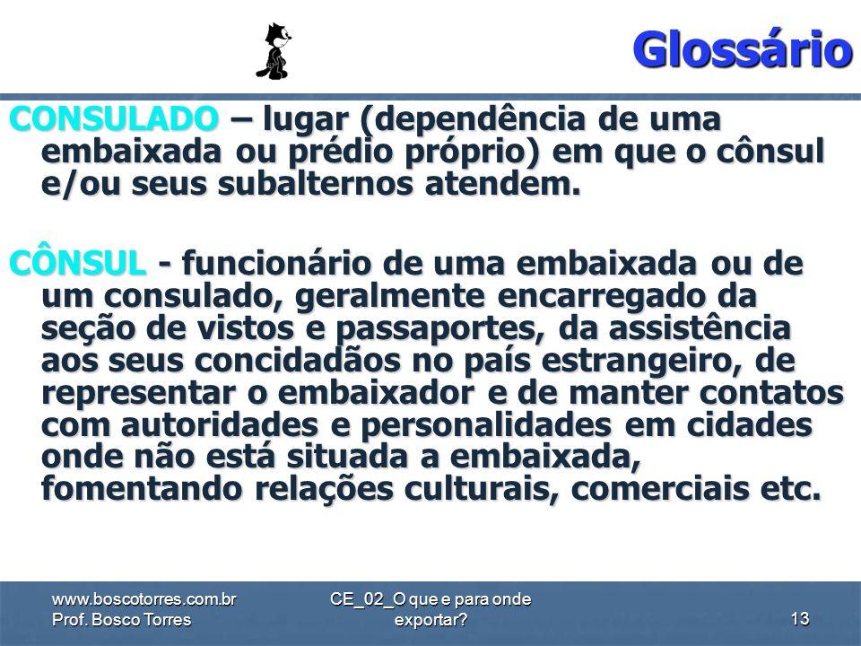 Glossário EMBAIXADA – residência ou local onde trabalha o embaixador EMBAIXADOR – categoria hierarquicamente mais importante de representante diplomát