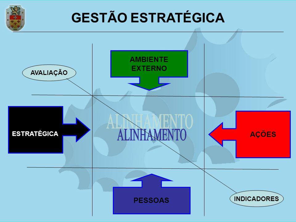 PESSOAS AMBIENTE EXTERNO GESTÃO ESTRATÉGICA AÇÕES INDICADORES AVALIAÇÃO GESTÃO ESTRATÉGICA