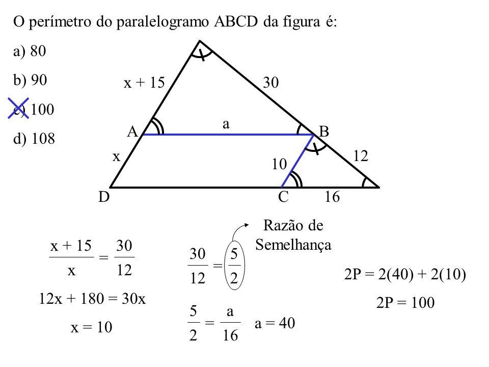 As retas r, s e t da figura são paralelas. Os seis segmentos que elas determinam nas duas transversais têm as medidas indicadas. O valor de x + y é: a
