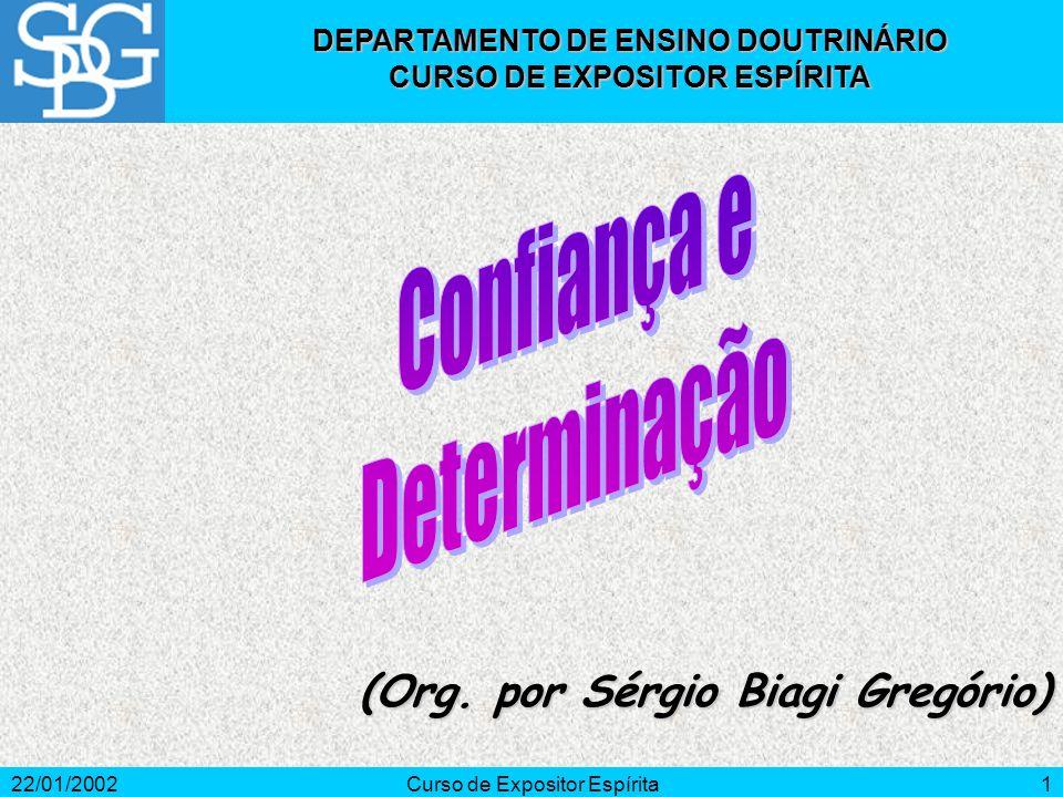 22/01/2002Curso de Expositor Espírita2 Por que sentimos medo de falar em público.