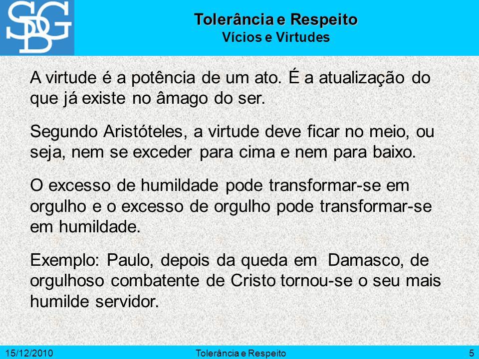 15/12/2010Tolerância e Respeito6 Falsa o ceticismo subestima todas as divergências doutrinais, porque parte do princípio de que é impossível aproximar-se da verdade.