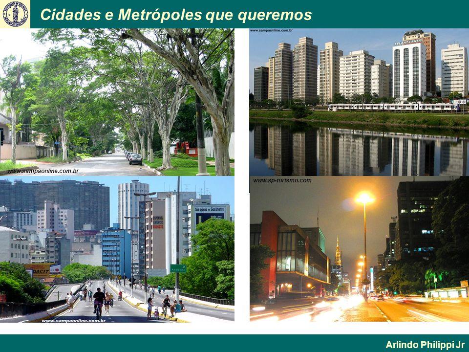 Cidades e Metrópoles que queremos Arlindo Philippi Jr www.sampaonline.com.br www.sp-turismo.com