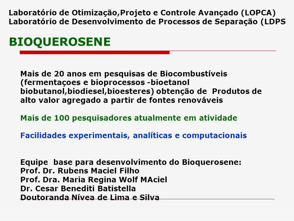 Mais de 20 anos em pesquisas de Biocombustíveis (fermentaçoes e bioprocessos -bioetanol biobutanol,biodiesel,bioesteres) obtenção de Produtos de alto