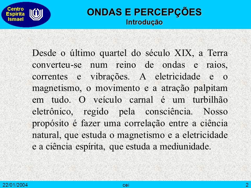 22/01/2004cei3 O que nos dá melhor idéia do que seja vibração é ver o funcionamento de um pêndulo, com seu vaivém.