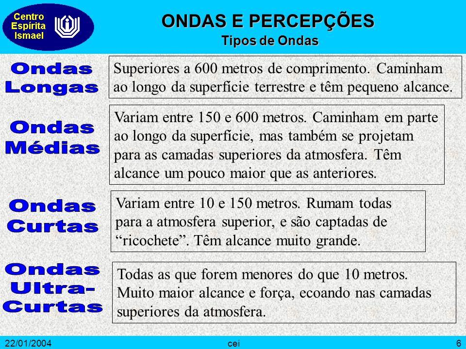 22/01/2004cei6 Superiores a 600 metros de comprimento. Caminham ao longo da superfície terrestre e têm pequeno alcance. Variam entre 150 e 600 metros.