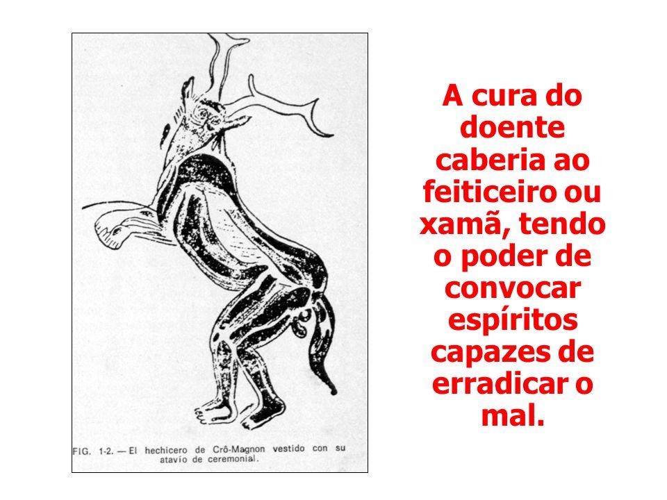 A cura do doente caberia ao feiticeiro ou xamã, tendo o poder de convocar espíritos capazes de erradicar o mal.