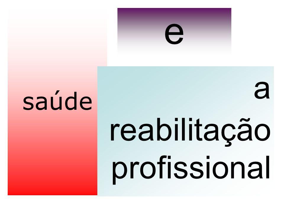 saúde a reabilitação profissional e