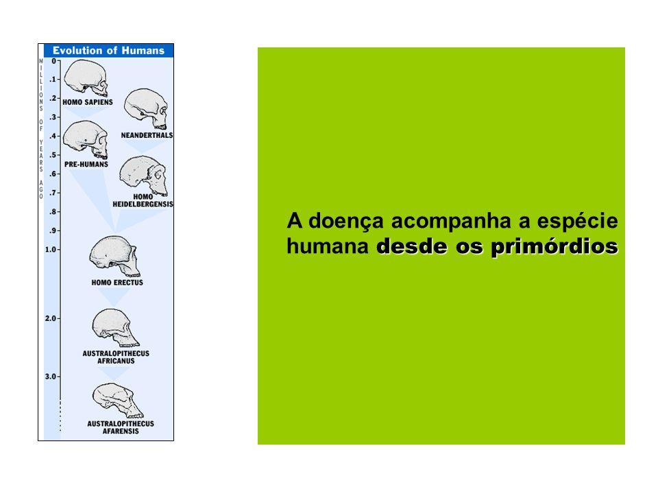 desde os primórdios A doença acompanha a espécie humana desde os primórdios