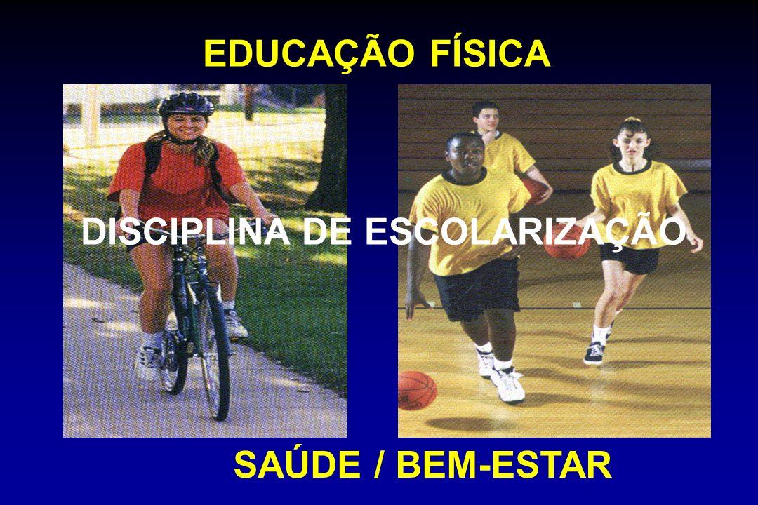 EDUCAÇÃO FÍSICA SAÚDE / BEM-ESTAR DISCIPLINA DE ESCOLARIZAÇÃO