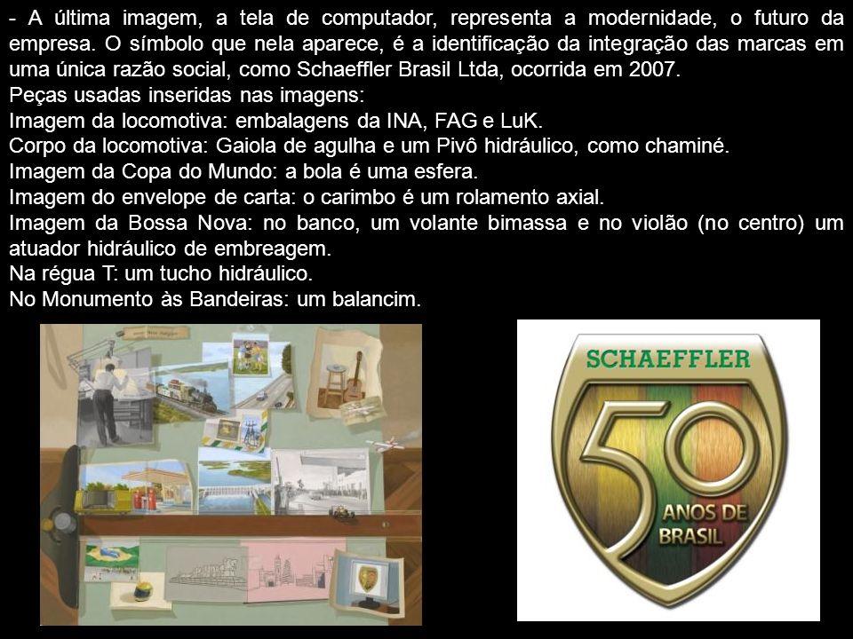 - O envelope de carta, com as cores do Brasil, marca nos selos, tanto a inauguração de Brasília (1960), como a realização do 1° Salão do Automóvel em