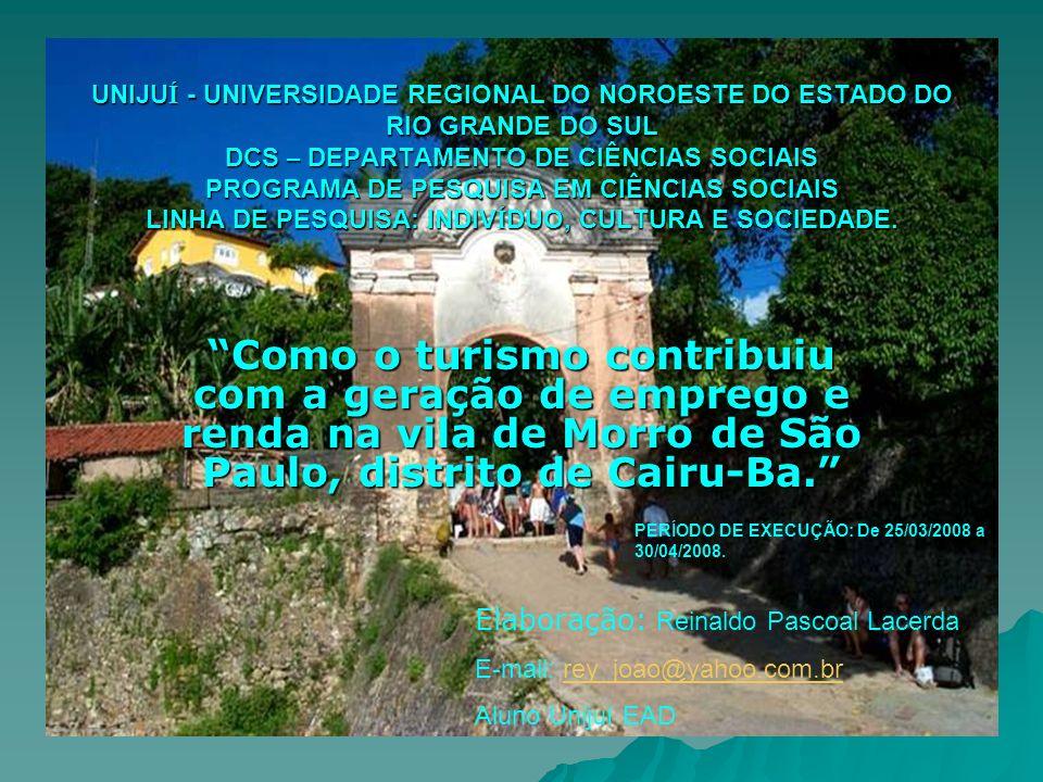 UNIJU Í - UNIVERSIDADE REGIONAL DO NOROESTE DO ESTADO DO RIO GRANDE DO SUL DCS – DEPARTAMENTO DE CIÊNCIAS SOCIAIS PROGRAMA DE PESQUISA EM CIÊNCIAS SOC