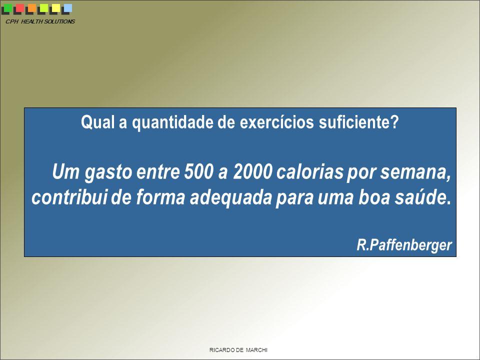 CPH HEALTH SOLUTIONS RICARDO DE MARCHI Qual a quantidade de exercícios suficiente.