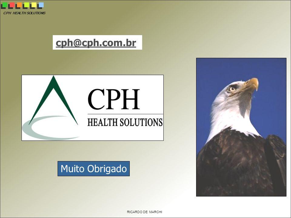 CPH HEALTH SOLUTIONS RICARDO DE MARCHI Muito Obrigado cph@cph.com.br