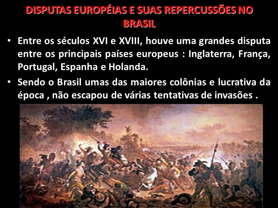 Entre os séculos XVI e XVIII, houve uma grandes disputa entre os principais países europeus : Inglaterra, França, Portugal, Espanha e Holanda. Sendo o