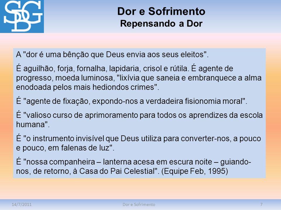 14/7/2011Dor e Sofrimento7 A