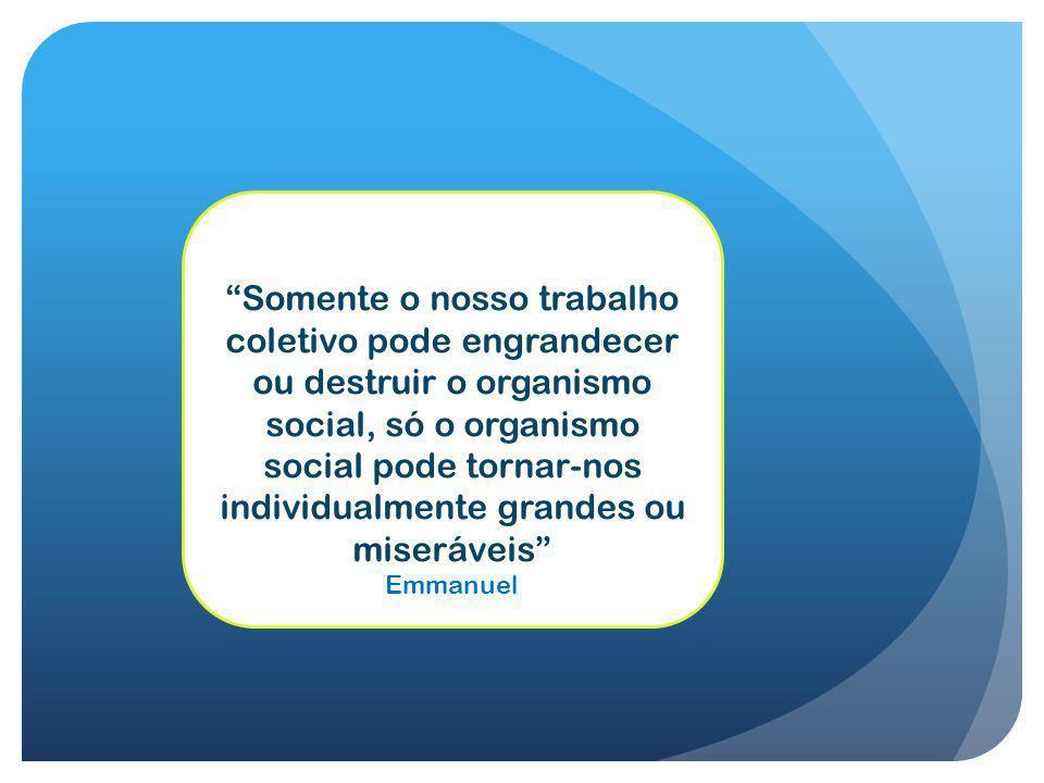 Somente o nosso trabalho coletivo pode engrandecer ou destruir o organismo social, só o organismo social pode tornar-nos individualmente grandes ou mi