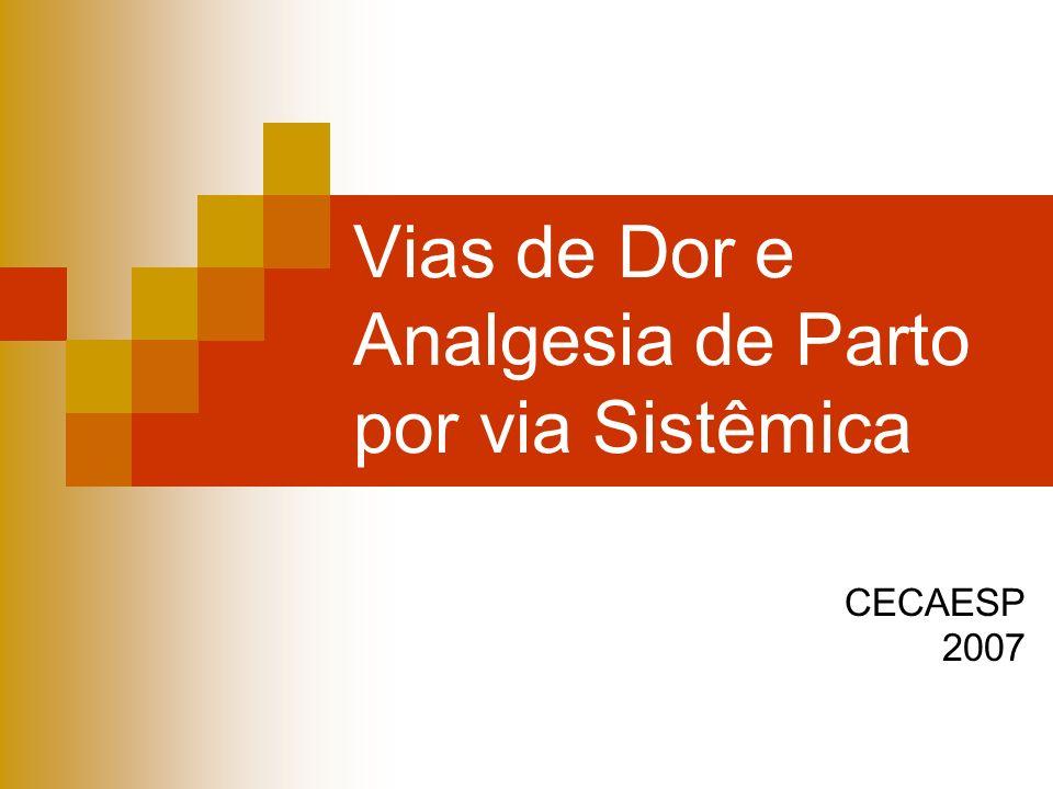 Vias de Dor e Analgesia de Parto por via Sistêmica CECAESP 2007