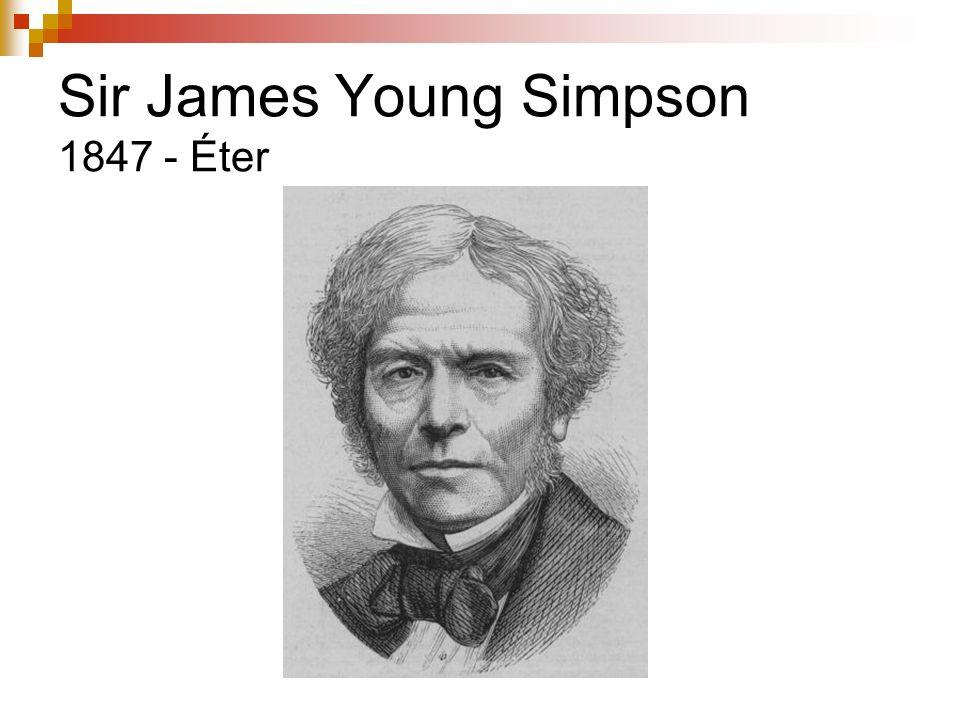 Sir James Young Simpson 1847 - Éter