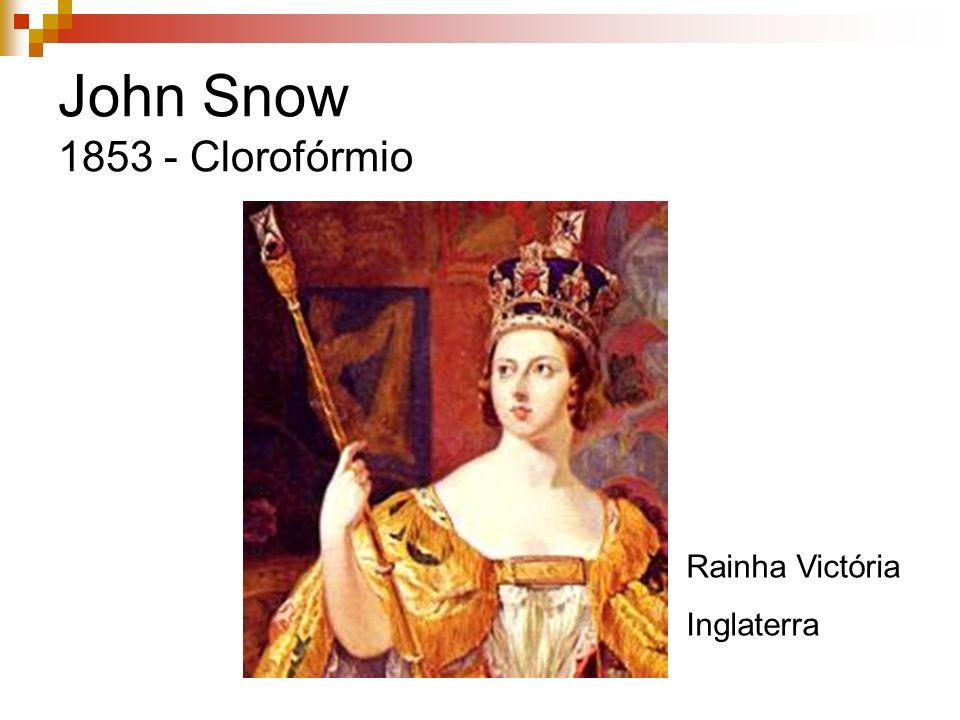 John Snow 1853 - Clorofórmio Rainha Victória Inglaterra