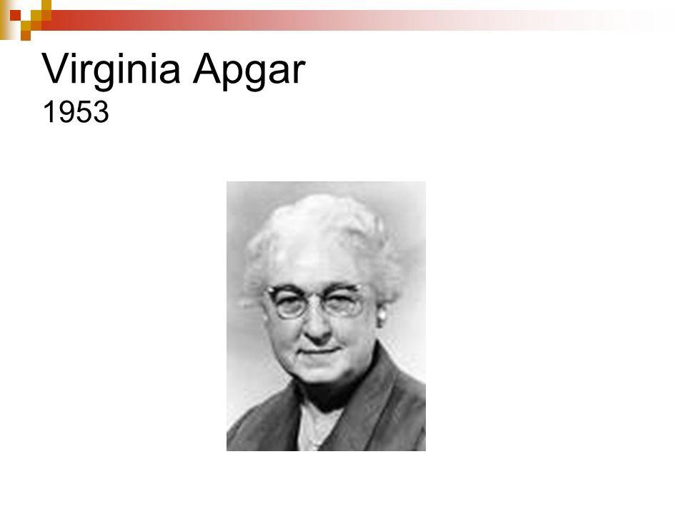 Virginia Apgar 1953