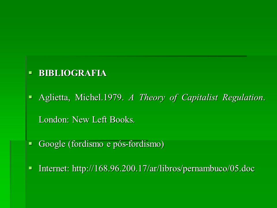 BIBLIOGRAFIA BIBLIOGRAFIA Aglietta, Michel.1979. A Theory of Capitalist Regulation. London: New Left Books. Aglietta, Michel.1979. A Theory of Capital