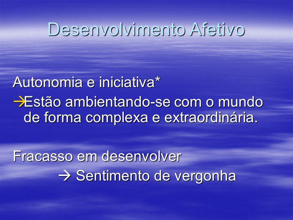 Desenvolvimento no início da infância O brincar Facilitador do crescimento cognitivo e afetivo Ocupam a maior parte do tempo Ocupam a maior parte do t