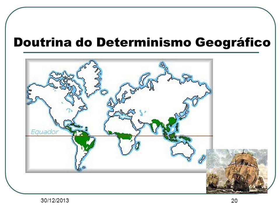 Doutrina do Determinismo Geográfico 30/12/2013 20