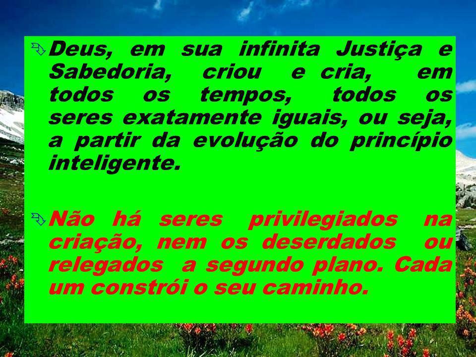 evolução Assim sendo, o Espírito evolui constantemente, desde que foi criado por Deus, a partir da evolução do princípio inteligente. IV - A EVOLUÇÃO