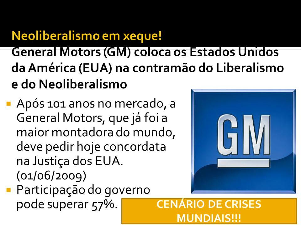 Após 101 anos no mercado, a General Motors, que já foi a maior montadora do mundo, deve pedir hoje concordata na Justiça dos EUA. (01/06/2009) Partici