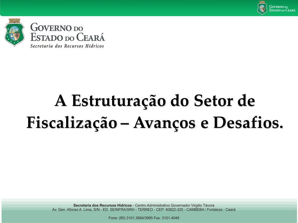 Política Estadual de Recursos Hídricos A Estruturação do Setor de Fiscalização – Avanços e Desafios.