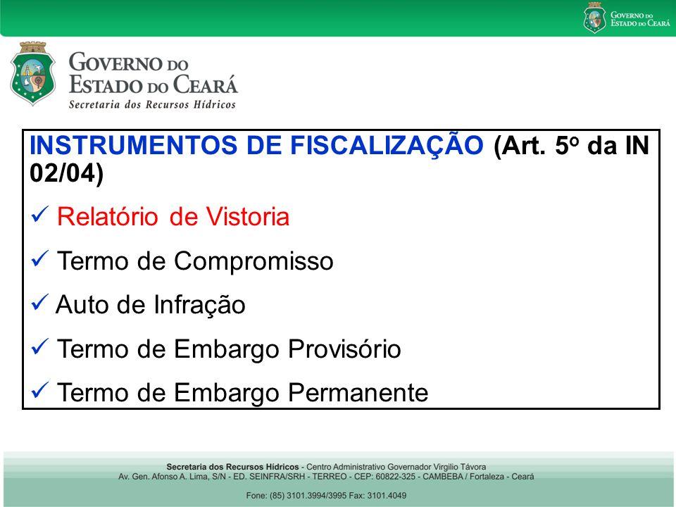 INSTRUMENTOS DE FISCALIZAÇÃO (Art.