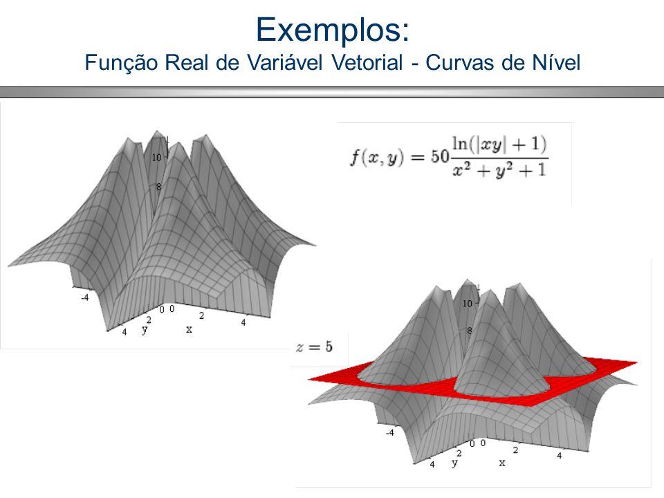 70 Exemplos: Função Real de Variável Vetorial - Curvas de Nível