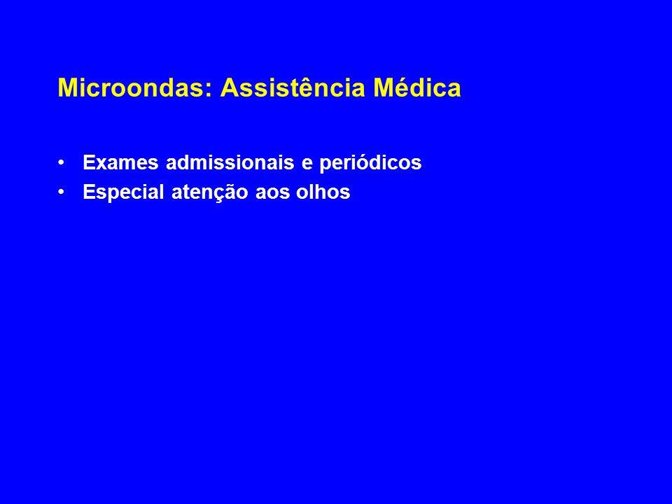 Microondas: Assistência Médica Exames admissionais e periódicos Especial atenção aos olhos