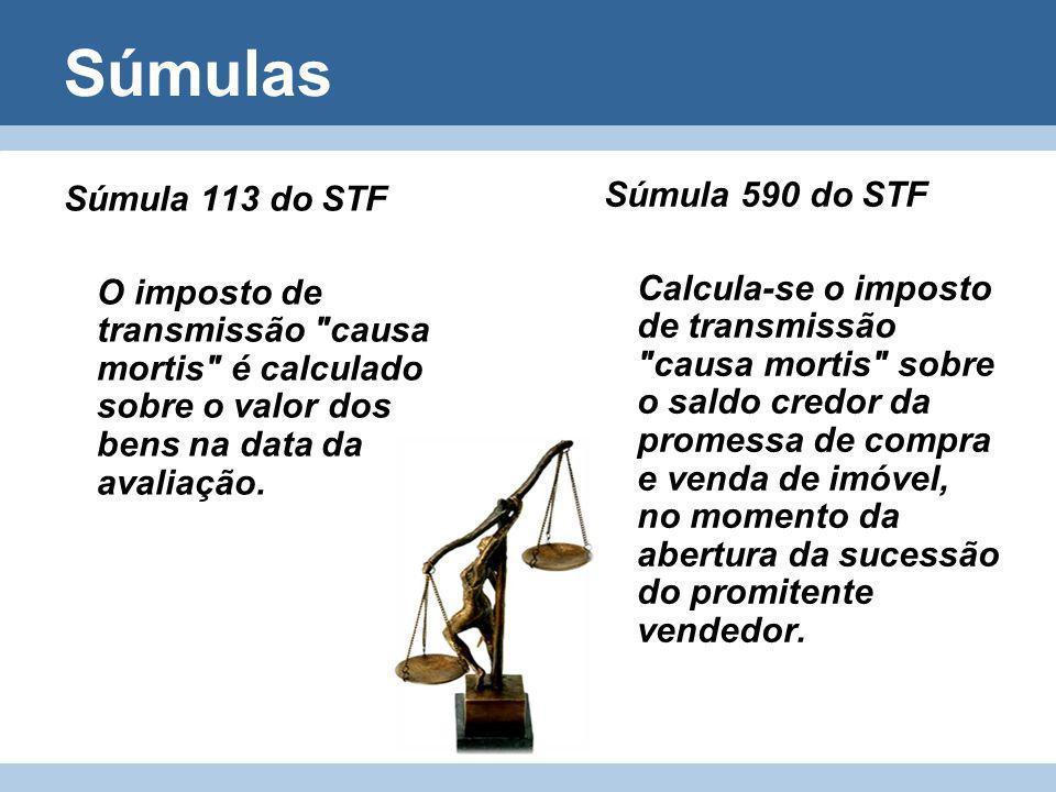 Súmulas Súmula 113 do STF O imposto de transmissão