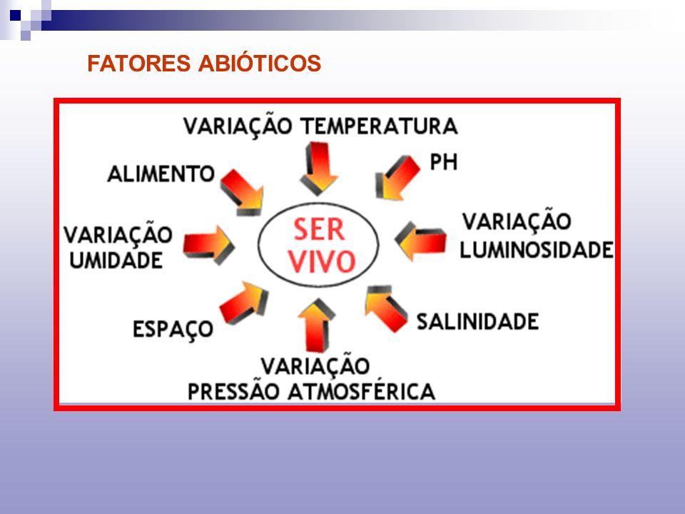 FATORES ABIÓTICOS