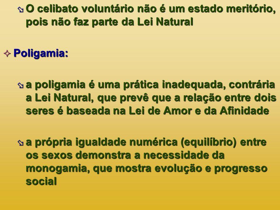 O celibato voluntário não é um estado meritório, pois não faz parte da Lei Natural O celibato voluntário não é um estado meritório, pois não faz parte