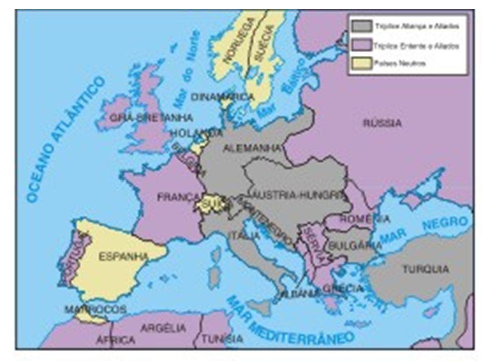 A Guerra se alastra e toma proporções mundiais.A Tríplice Aliança perdeu e não se conformou.
