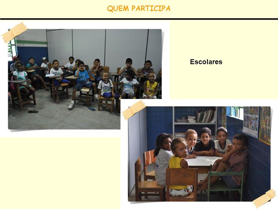 QUEM PARTICIPA Escolares