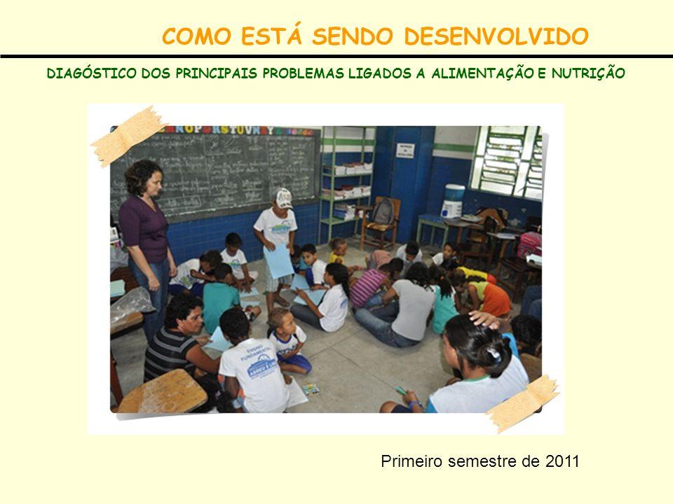 COMO ESTÁ SENDO DESENVOLVIDO DIAGÓSTICO DOS PRINCIPAIS PROBLEMAS LIGADOS A ALIMENTAÇÃO E NUTRIÇÃO Primeiro semestre de 2011