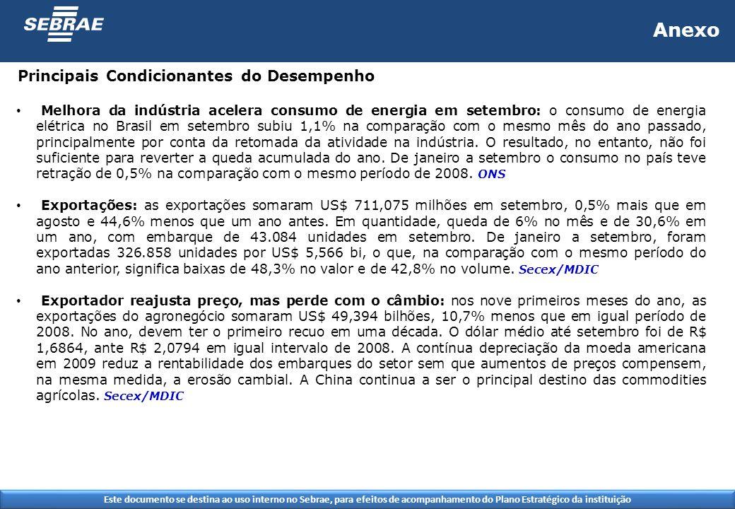 Este documento se destina ao uso interno no Sebrae, para efeitos de acompanhamento do Plano Estratégico da instituição Anexo Melhora da indústria acel