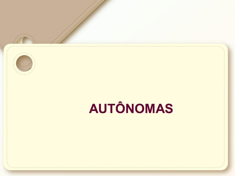 Autônomas: São as elaboradas pelos próprios interessados.