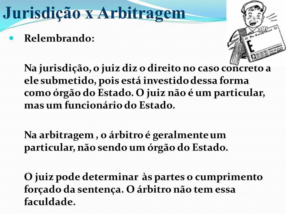Relembrando: Na jurisdição, o juiz diz o direito no caso concreto a ele submetido, pois está investido dessa forma como órgão do Estado. O juiz não é