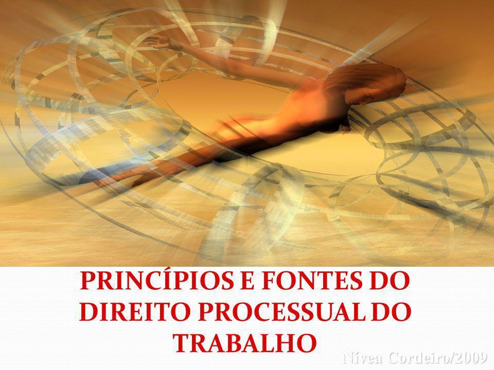 PRINCÍPIOS E FONTES DO DIREITO PROCESSUAL DO TRABALHO Nívea Cordeiro/2009