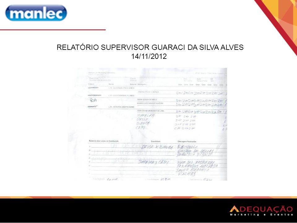 RELATÓRIO SUPERVISOR GUARACI DA SILVA ALVES 14/11/2012