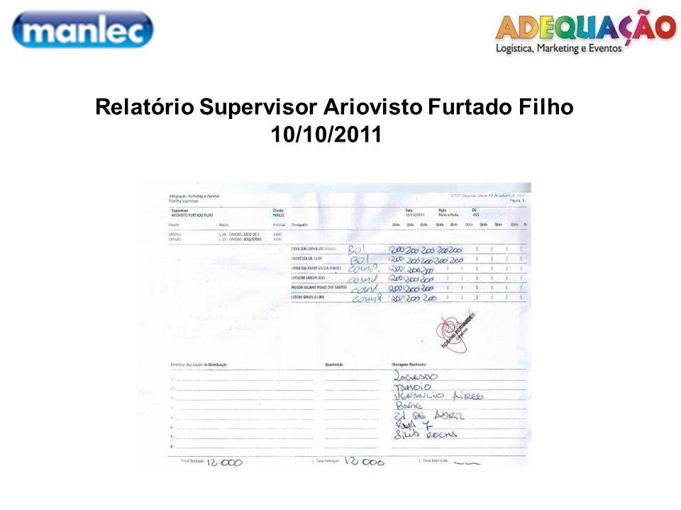 Relatório Supervisor Ariovisto Furtado Filho 10/10/2011