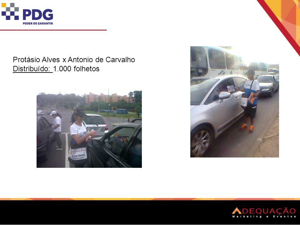 Protásio Alves x Antonio de Carvalho Distribuído: 1.000 folhetos