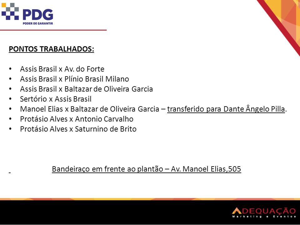 PONTOS TRABALHADOS: Assis Brasil x Av.