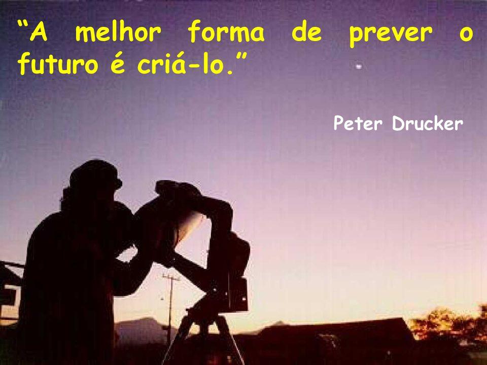A melhor forma de prever o futuro é criá-lo. Peter Drucker