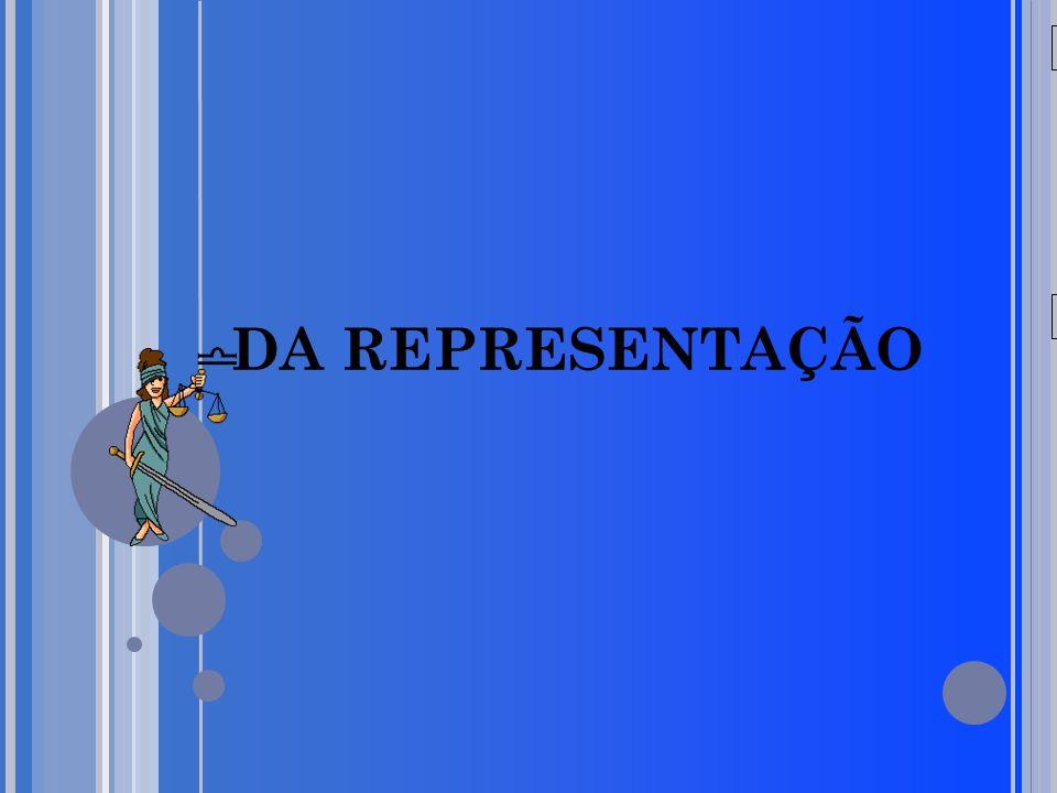 20/05/09 DA REPRESENTAÇÃO