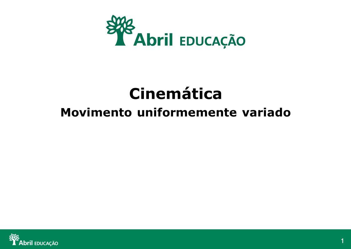 1 Cinemática Movimento uniformemente variado